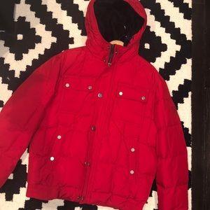 Tommy Hilfiger red winter coat